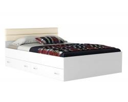 Кровать с ящиками и матрасом ГОСТ Виктория-МБ (140х200)