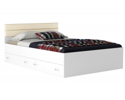 Кровать с ящиками и матрасом Promo B Cocos Виктория-МБ (140х200)