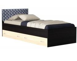 Кровать с ящиками и матрасом ГОСТ Виктория-П (90х200)
