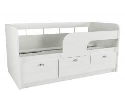 Односпальная кровать Прованс в цвете Белый