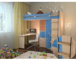 Детская кровать-чердак М-85