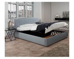 """Кровать Мягкая """"Selesta&; 1400 серая подъемным механи"""