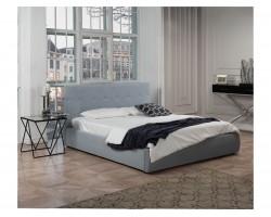 """Кровать Мягкая """"Selesta&; 1800 серая ортопед.основани"""