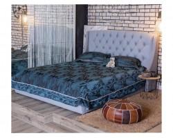 """Кровать Мягкая """"Stefani&; 1600 серая подъемным механи"""