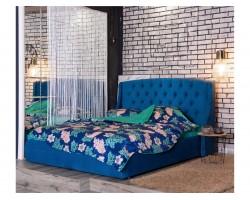 """Основание для кровати Мягкая """"Stefani&; 1400 синяя ортопед."""