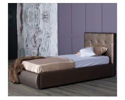 Односпальная кровать Мягкая Селеста 900 мокко подъемным механизмом матрас