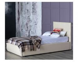 Односпальная кровать Мягкая Селеста 900 беж подъемным механизмом матрасом