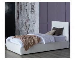 Кровать Мягкая Селеста 900 белая подъемным механизмом матрас