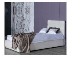 Односпальная кровать Мягкая Selesta 900 беж с подъемным механизмом матрасом