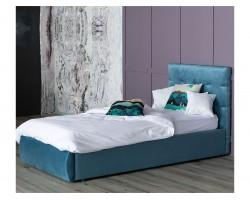 Кровать Мягкая Selesta 900 синяя подъемным механизмом матрас