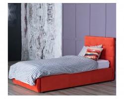 Односпальная кровать Мягкая Selesta 900 оранж с подъемным механизмом матрас