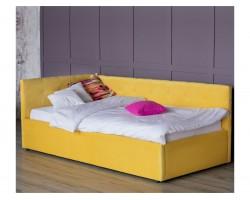 Односпальная кровать тахта Bonna 900 желтая с подъемным механизм
