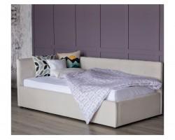 Односпальная кровать тахта Bonna 900 беж ткань с подъемным