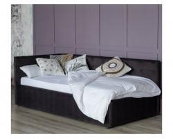 Кровать с подъемным механизмом Односпальная тахта Bonna 900 темная