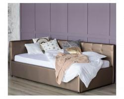 Односпальная кровать тахта Bonna 900 мокко с подъемным механизмо