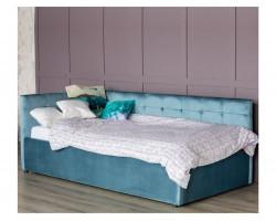 Кровать Односпальная тахта Bonna 900 синяя подъемным механизмо