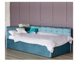 Кровать Односпальная тахта Bonna 900 синяя ортопед.основание