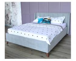 Кровать Мягкая Betsi 1600 серая подъемным механизмом и матрасо