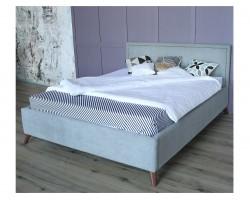 Кровать Мягкая Melani 1600 серая ортопед.основание матрасом PR