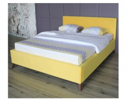 Основание для кровати Мягкая Monika 1600 желтая ортопед.с матрасом P