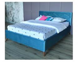 Основание для кровати Мягкая Monika 1600 синяя ортопед.матрасом АС