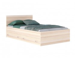 """Кровать полутороспальная """"Виктория&; 1200 с ящиками дуб"""