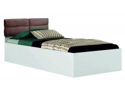 """Кровать Односпальная белая """"Виктория-П&; 900 с мягким"""