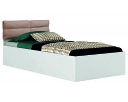 """Детская кровать Односпальная белая """"Виктория-П&; 900 с мягким"""