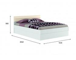 """Кровать Белая """"Николь МБ&; 1400 с подъемным механизмом"""
