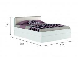 """Кровать Белая """"Николь ЭКО узор&; 1400 с подъемным"""