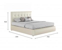 """Кровать Мягкая белая интерьерная """"Селеста&; подъемным"""