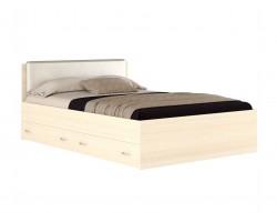 Кровать Виктория ЭКО узор 140 с ящиками (Дуб) матрасом ГОСТ