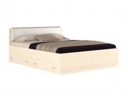 Кровать Виктория ЭКО узор 160 с ящиками (Дуб) матрасом Promo B