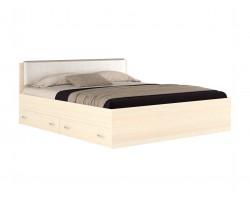 Кровать Виктория ЭКО узор 180 с ящиками (Дуб) матрасом Promo B