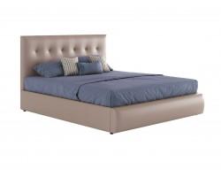 """Кровать Мягкая двуспальная """"Селеста&; 1400 капучино"""