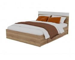 """Кровать """"Диана&; 1600 с 2 ящиками (дуб золотой/"""