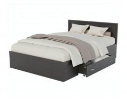 Кровать Адель 1200 с багетом, ящиком и ортопедическим матрасом P