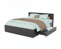 Кровать с матрасом Адель 1600 багетом, ящиком и ортопедическим P