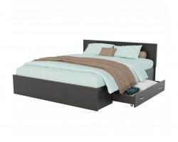 Кровать с матрасом Адель 1800 багетом, ящиком и ортопедическим P