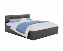 Кровать с матрасом Виктория ЭКО-П 160 (Венге/) темная PROMO