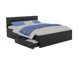 Кровать Виктория ЭКО-П 160 (Венге/) с ящиками темная матр