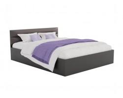 Кровать Виктория-МБ 160 (Венге/) темная с матрасом ГОСТ