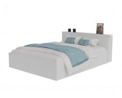 Кровать с матрасом Доминика блоком 180 (Белый) ГОСТ