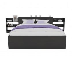 Кровать Доминика с блоком 180 (Венге) матрасом АСТРА
