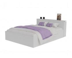 Кровать Доминика с блоком 140 (Белый) матрасом PROMO B COCOS