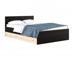 """Кровать """"Виктория&; 1400 с ящиками венге/дуб"""
