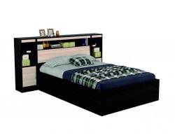 """Кровать """"Виктория&; 1400 с откидным блоком и тумбами"""