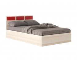 """Кровать """"Виктория-С&;1400 дуб листья и матра"""