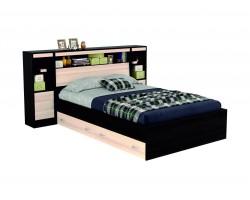 """Кровать """"Виктория&; 1400 с откидным блоком, ящиками"""