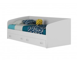 """Односпальная кровать Подростковая """"Уника&; 900 с матрасом ГОСТ (Белы"""
